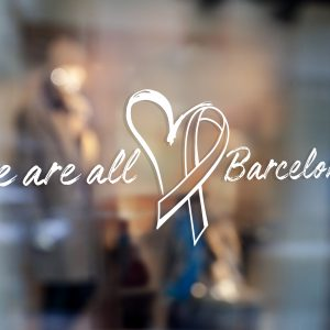 We Are All Barcelona Window Sticker Tots Som Barcelona Window Sticker