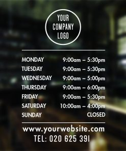 custom business hours sign