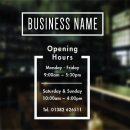 opening hours signage
