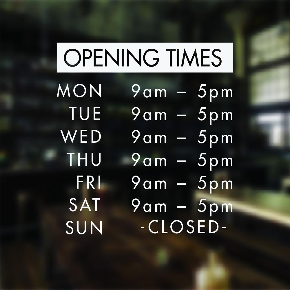 Lighting Warehouse Menlyn Trading Hours: Custom Store Business Hours Store Hours Business Sign