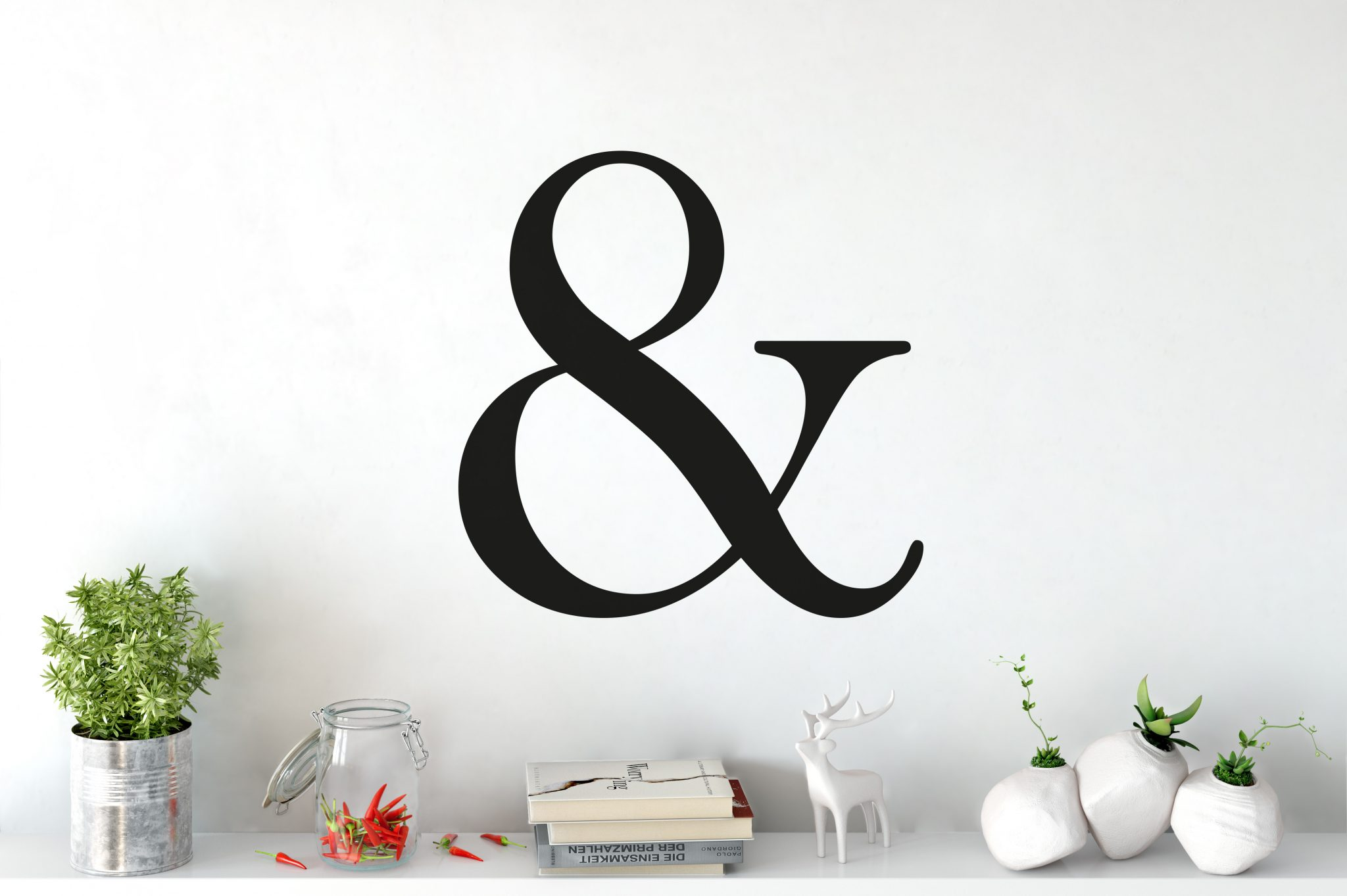Ampersand Letter Wall Sticker | Letter Wall Stickers | Modern Wall Sticker