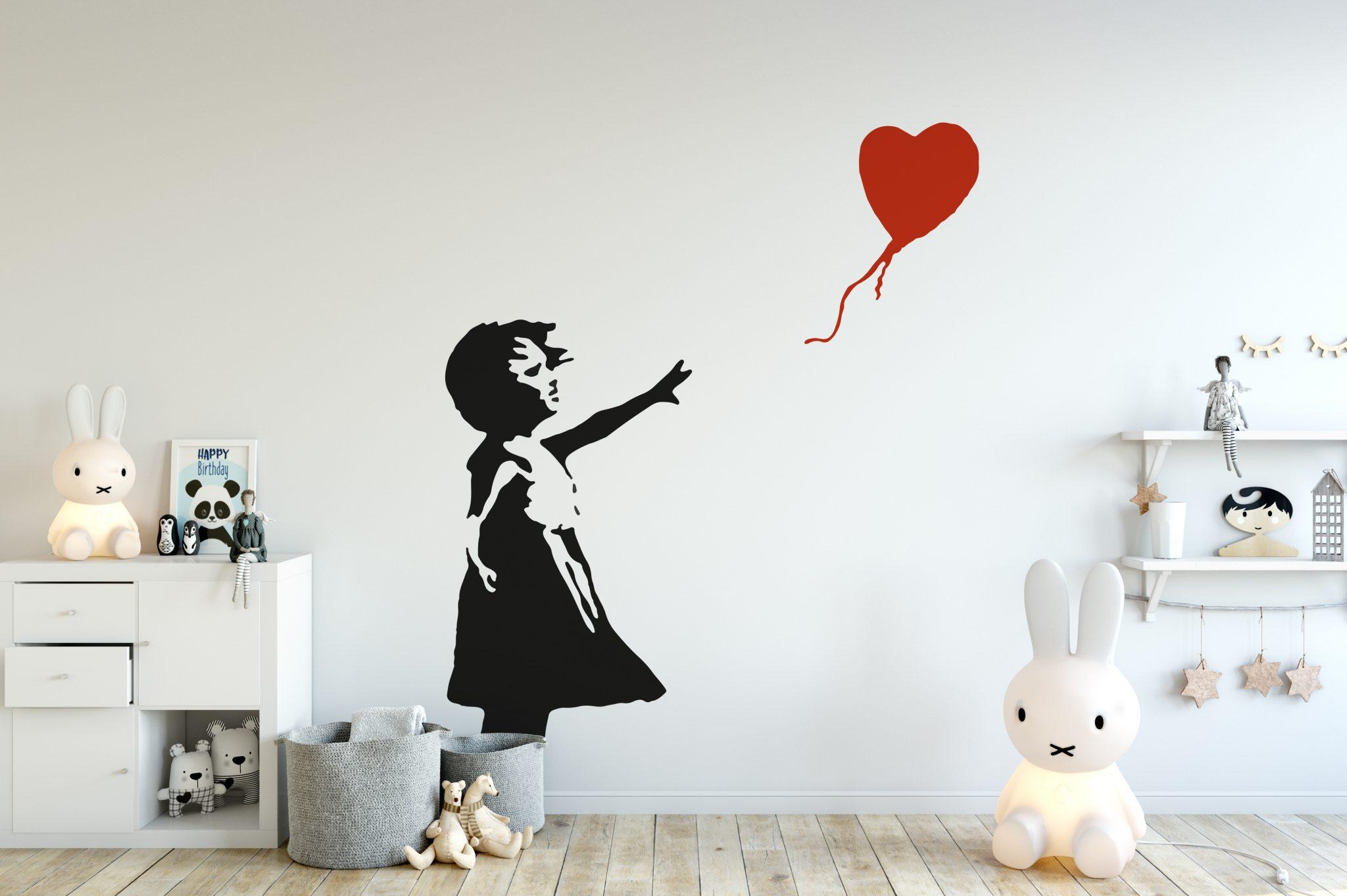 Banksy Girl Balloon Wall Sticker Popular Banksy Wall Stickers