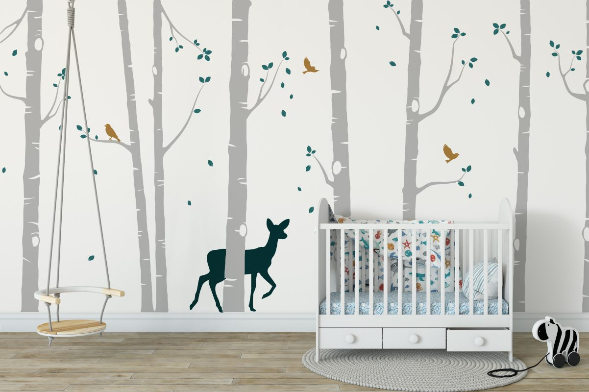Word Stickers For Walls Uk Tree Wall Stickers Nursery Ideas Forest Animal Wall Stickers