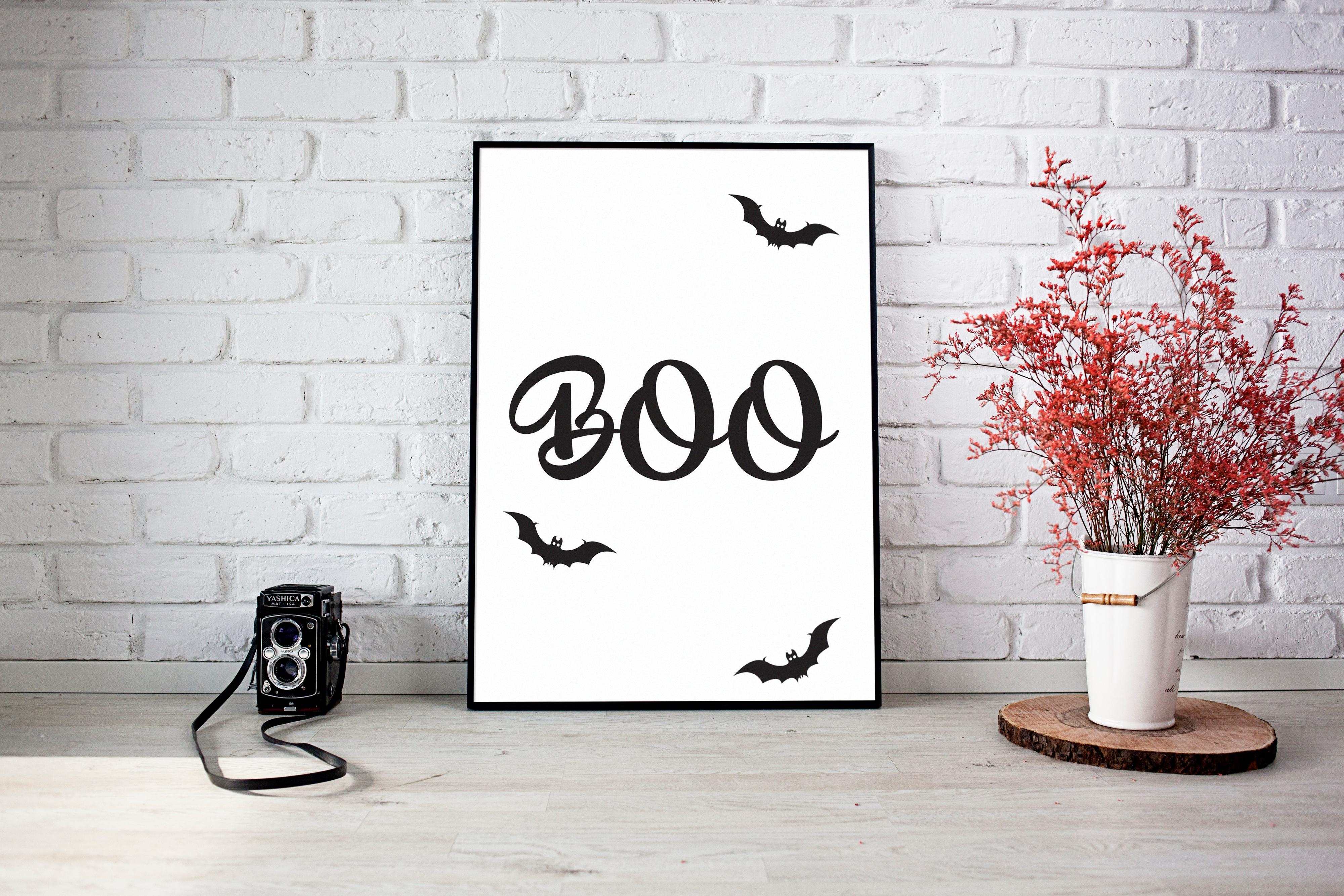 boo halloween - Halloween Prints