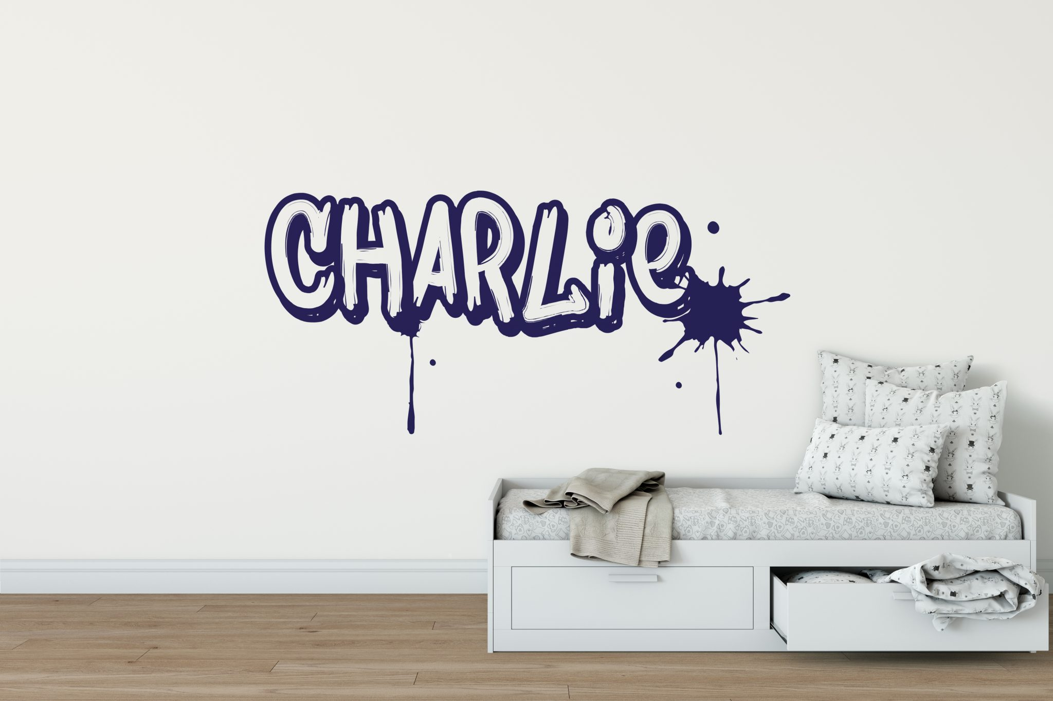 GRAFFITI STYLE DOOR PLAQUE personalised bedroom name sign kids urban grafitti