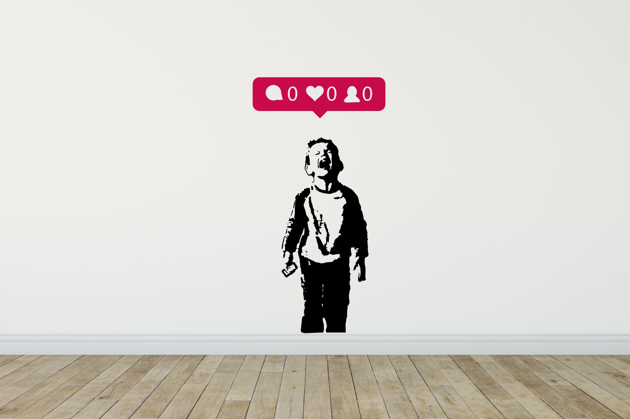 Iheart Nobody Likes Me Wall Sticker Banksy Wall Stickers 40 Colours