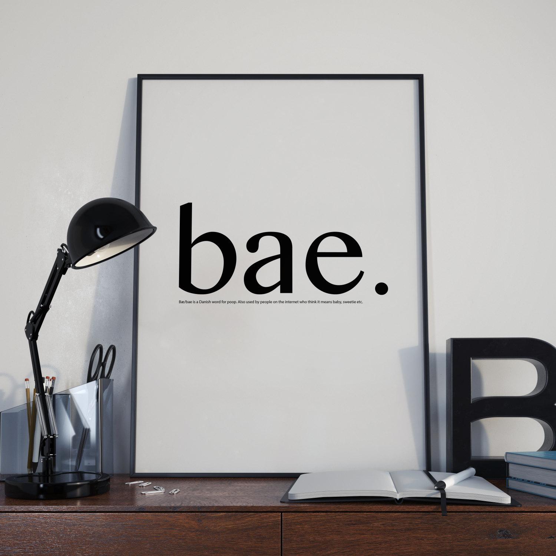 Home / Wall Art & Bae Definition - Dictionary Definition Wall Art - Tumblr Wall Art ...