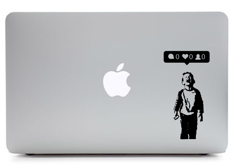Iheart Nobody Likes Me Laptop Sticker Unique Small