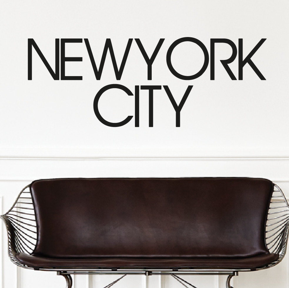 Personalised New York City Wall Sticker Personalised City Wall