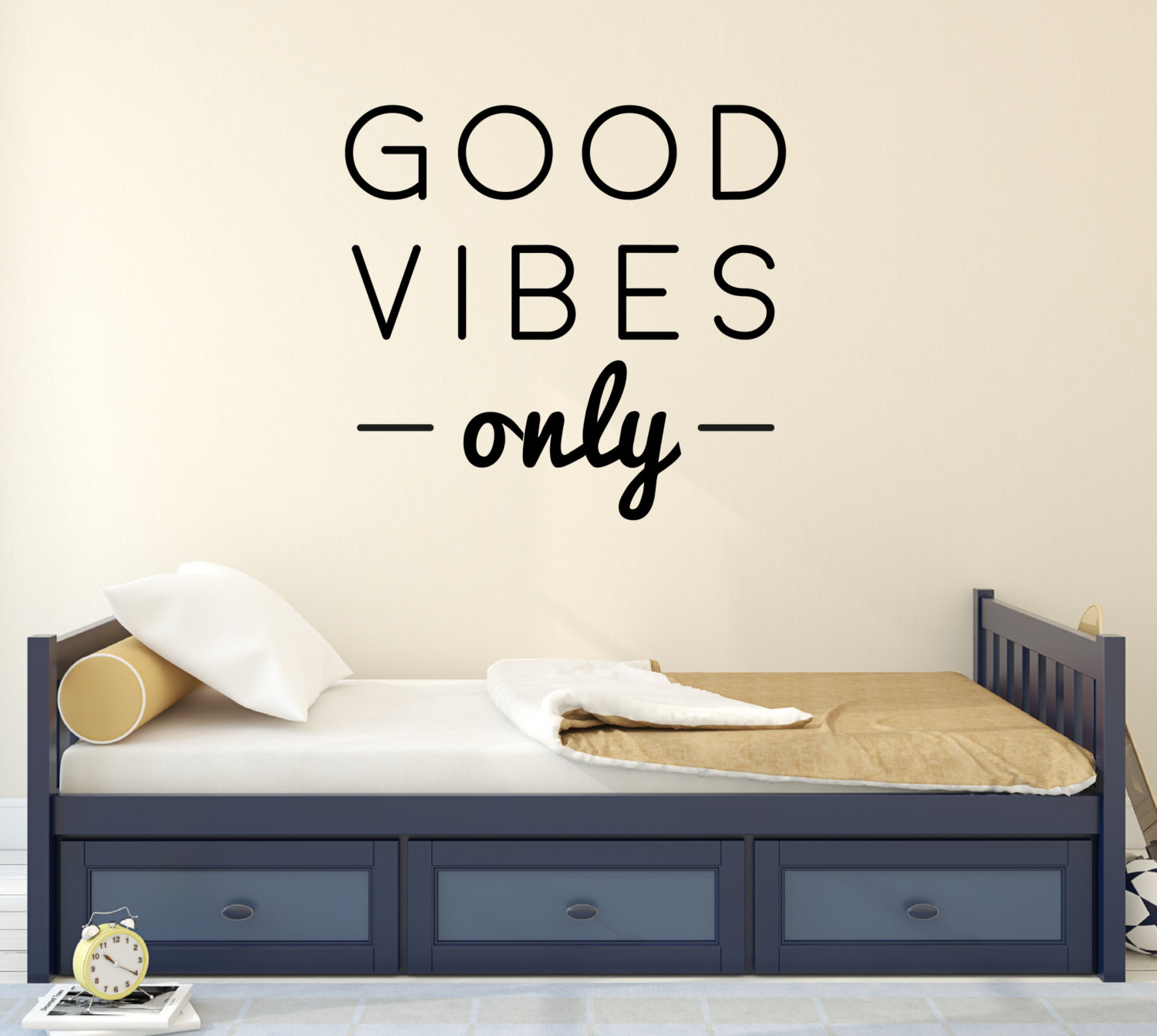 Good Vibes Only Wall Sticker Quote Wall Stickers Bedroom Wall Stickers Urban Artwork