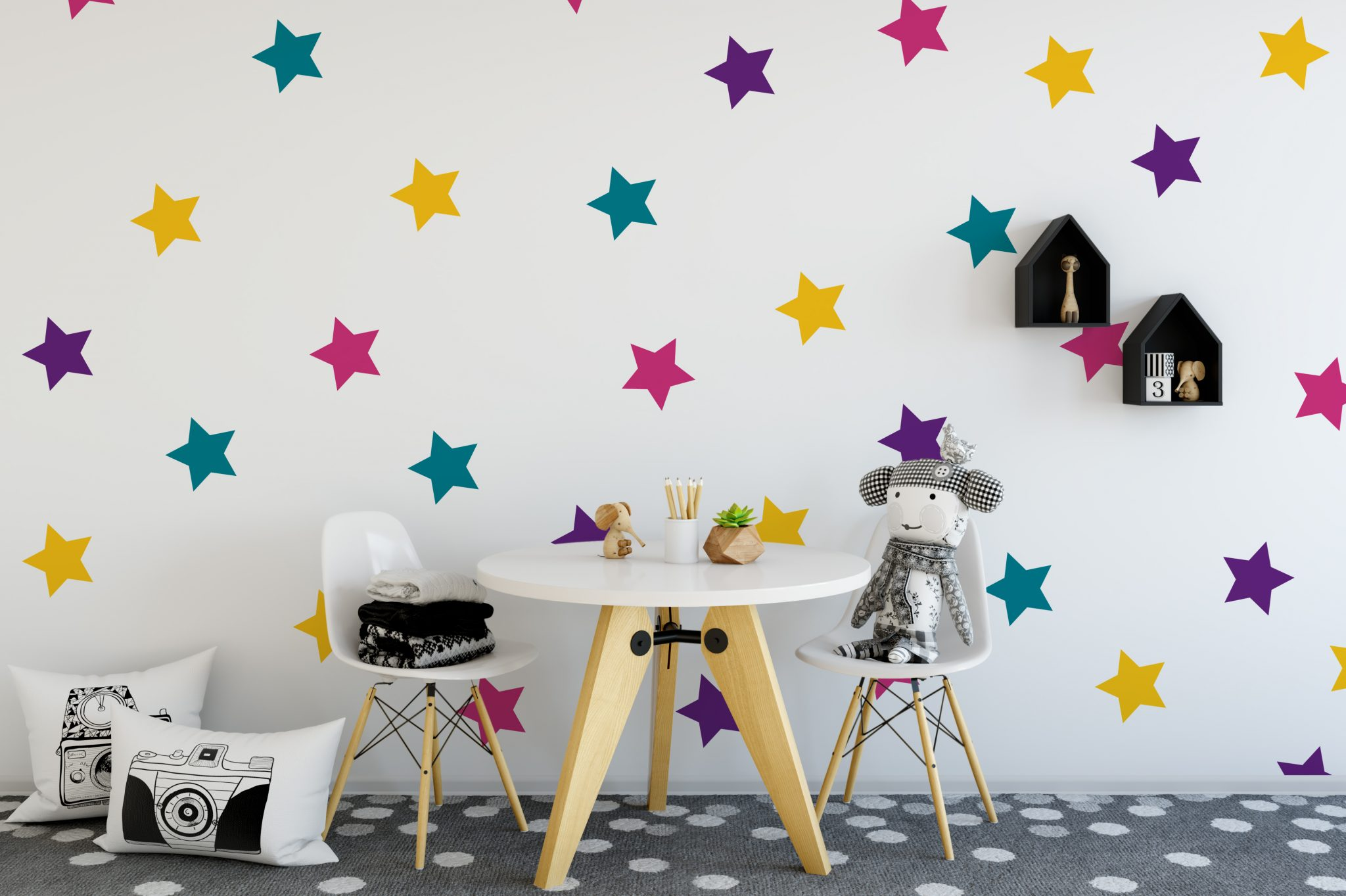 Bright Star Wall Stickers Star Wall Stickers Nursery Wall Stickers