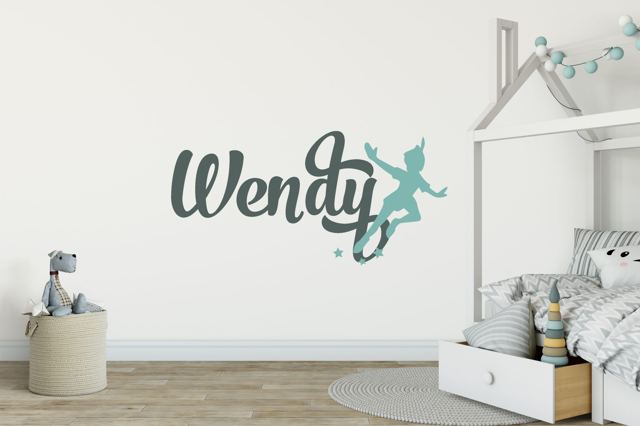 Peter Pan Girls Name Wall Sticker | Boys Name Wall Stickers
