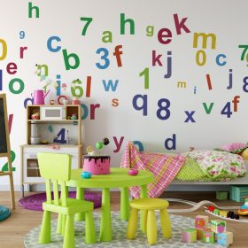 Alphabet and Numbers 1b Wall Sticker