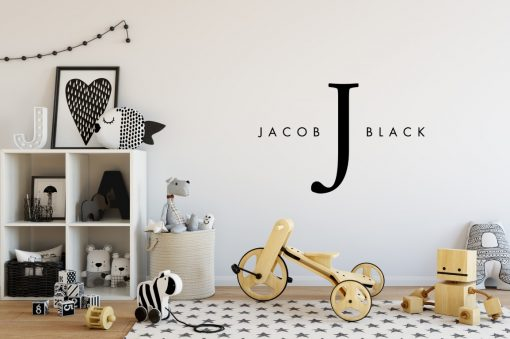 Designer Baby Name Scandinavian Wall Sticker