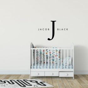 Designer Baby Name Sticker
