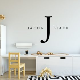 Designer Baby Name Wall Decal