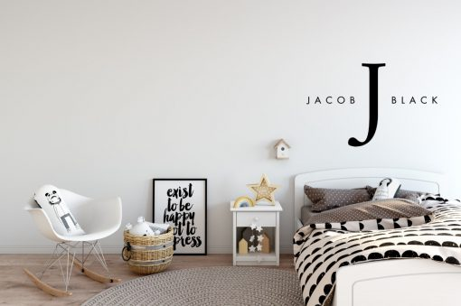 Designer Baby Name Wall Art Sticker