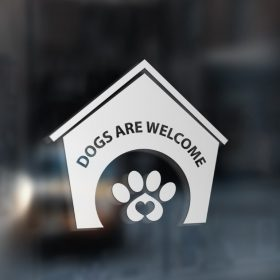 Dogs are welcome sticker