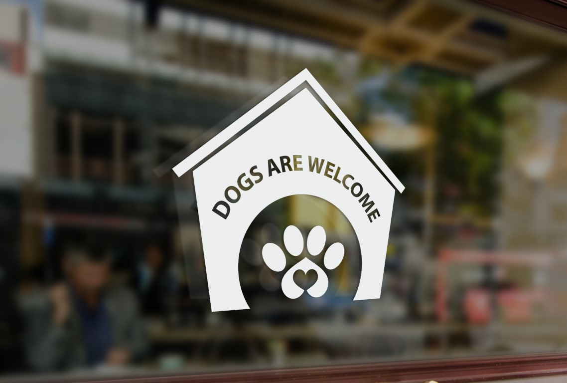Dogs Welcome Sign Dogs Welcome Sticker Dogs Welcome Window
