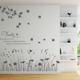 Family Quote with Branches and Field Wall Sticker