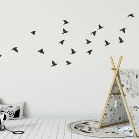 flock of flying birds wall decal