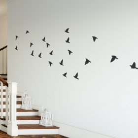 Flock of flying birds wall sticker
