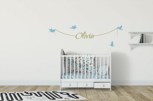 Girls Name on String 1a Wall Sticker