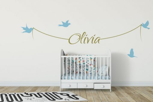 Girls Name on String 1b Wall Sticker