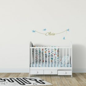Girls Name on String 1c Wall Sticker
