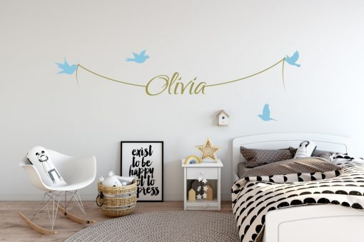 Girls Name on String 1d Wall Sticker