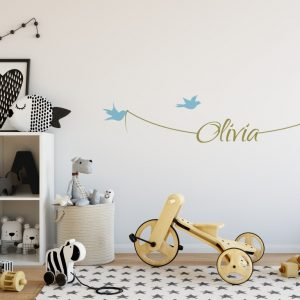 Girls Name on String 1e Wall Sticker