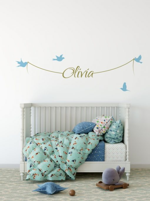 Girls Name on String 1f Wall Sticker