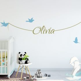 Girls Name on String 1g Wall Sticker