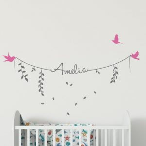Girls Name on String 2b2 Wall Sticker