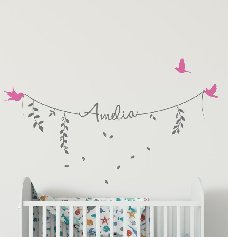 name wall stickers - personalised name wall stickers for girls boys