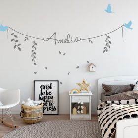 Girls Name on String 2d Wall Sticker