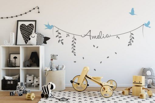 Girls Name on String 2e Wall Sticker
