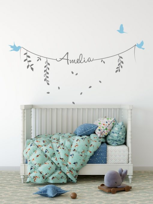 Girls Name on String 2f Wall Sticker