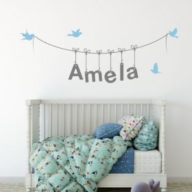 Girls Name on String 3a Wall Sticker