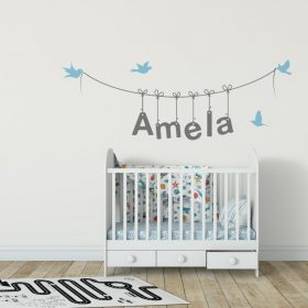 Girls Name on String 3b Wall Sticker