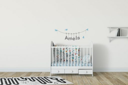 Girls Name on String 3c Wall Sticker