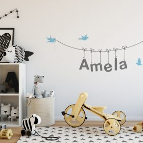 Girls Name on String 3e Wall Sticker