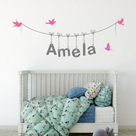 Girls Name on String 3f Wall Sticker