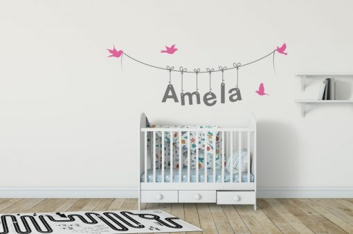 Girls Name on String 3g Wall Sticker