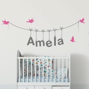 Girls Name on String 3g2 Wall Sticker