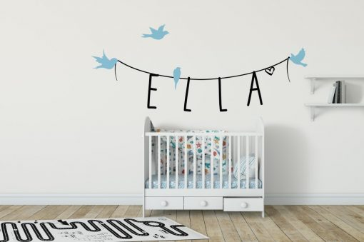 Girls Name on String 4a Wall Sticker