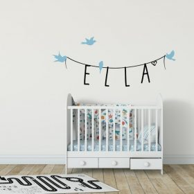 Girls Name on String 4b Wall Sticker