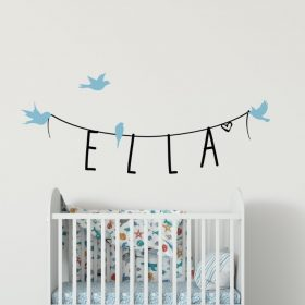 Girls Name on String 4b2 Wall Sticker