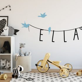 Girls Name on String 4d Wall Sticker