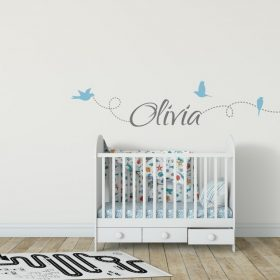 Girls Name on String 6a Wall Sticker